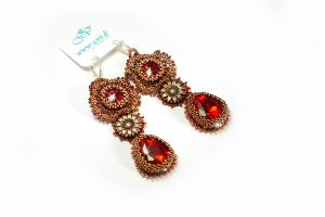 VINTAGE RED EARINGS I